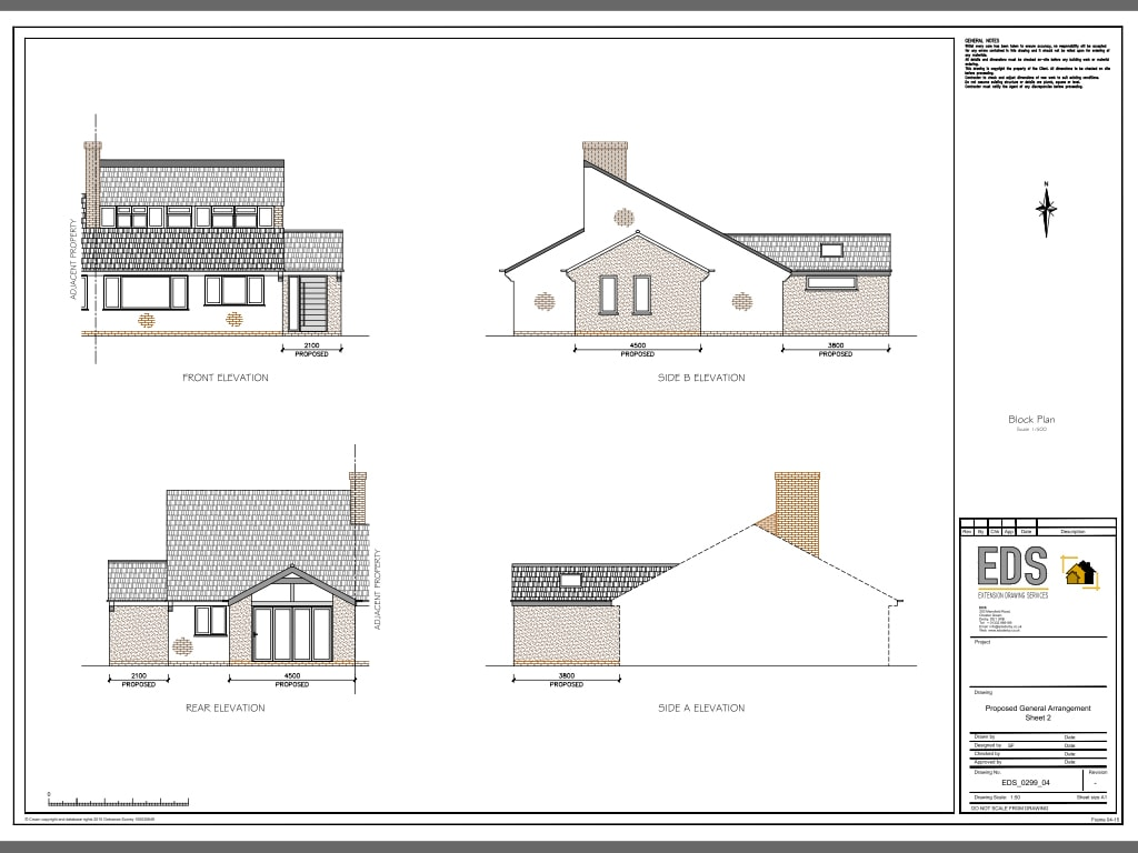 Single Story Extension Cost >> Sinfin – Side and Rear Single Story Extension – Extension Drawing Services