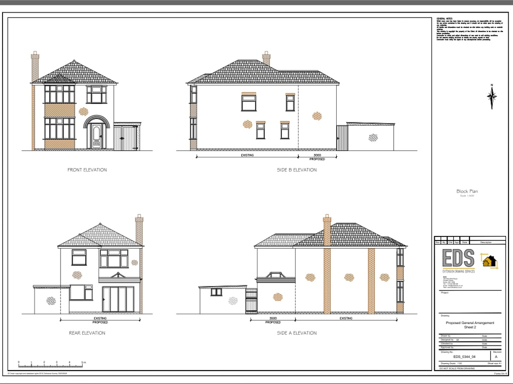 Aspley single and half double story extension for Two story house drawing